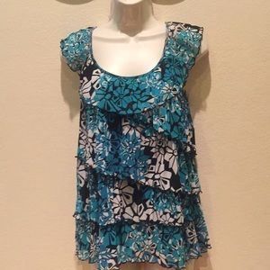 APT 9 sleeveless blouse top size L